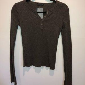 Brandy Melville Grey Long Sleeve Top